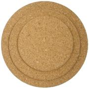 250mm Round Natural Cork Placemat