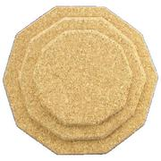 250mm Shaped Natural Cork Placemat