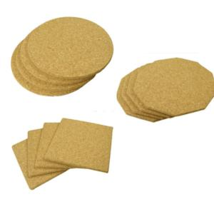 4 Natural Cork Place Mats 15cm
