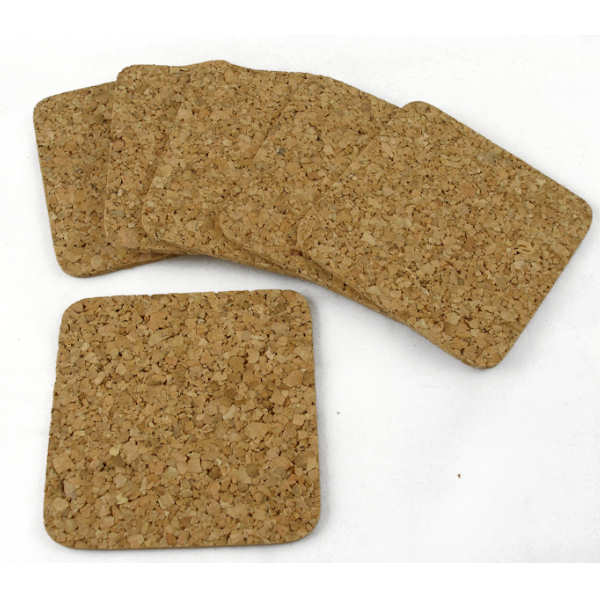 Pk 6 Natural Cork Coasters