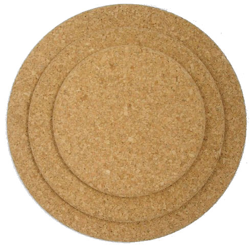 150mm Round Natural Cork Placemats