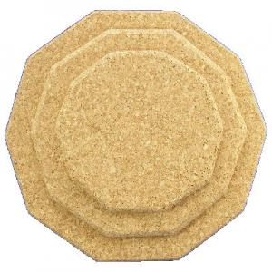 200mm Shaped Natural Cork Placemat